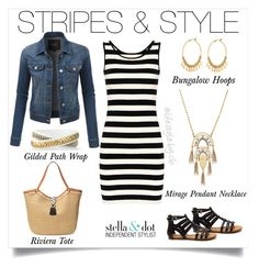 """Stripes and Stella go perfect together!"" by cathy-bartlett on Polyvore featuring Stella & Dot"