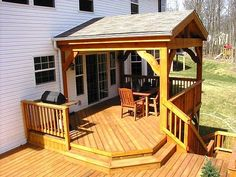 Porch on Multi-Level Deck