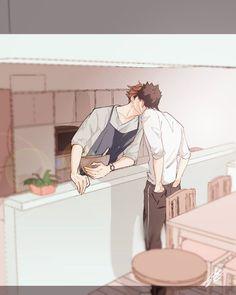 Oikawa Tooru x Iwaizumi Hajime / Haikyuu! Kagehina, Oikawa X Iwaizumi, Haikyuu Karasuno, Iwaoi, Kuroken, Haikyuu Manga, Haikyuu Fanart, Manga Anime, Japon Illustration