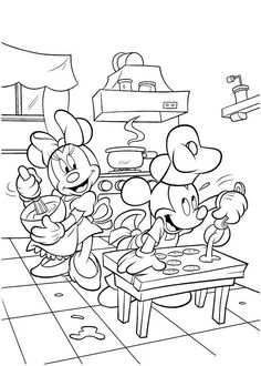 Minnie & Mickey Coloring page