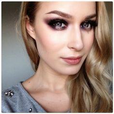 Glitter Dramatic Eye Makeup