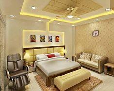 Wallpaper Design For Bedroom, New Bedroom Design, Bed Design, Interior Design, Bedroom Bed, Bedroom Decor, Latest Bed, Village House Design, False Ceiling Design