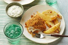 Pretzel-Crusted Fish & Chips Recipe - Healthy Living Kraft Recipes