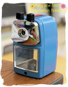 Classroom Friendly Pencil Sharpener....super sharp pencils and super easy to use for kids AND adults!  www.classroomfriendlysupplies.com
