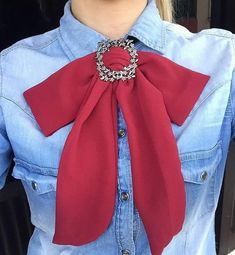 #Bow ties Fashion D, Fashion Outfits, Womens Fashion, Fashion Trends, Tie Styles, Scarf Styles, Preppy Style, My Style, Fancy Bows