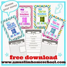 Not just for Ramadan; From a muslim homeschool: Print at home your own Juz Amma workbook!