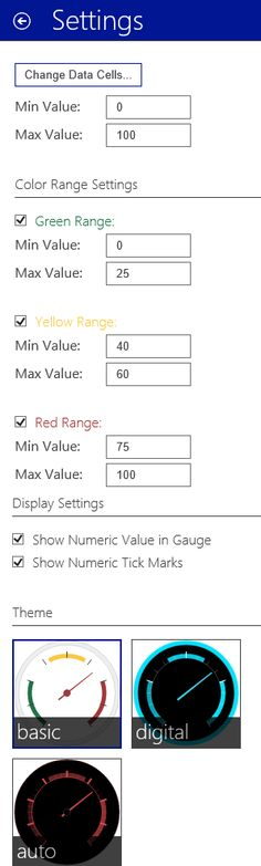 You can create a gauge chart by using pie chart or by using excel store app (Speed-o-meter) (Excel 2013 or later). Both are very easy to create.