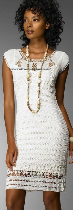 Brasil Tricô e Crochê - Handmade encomendas: Vestido Roma