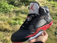 b0a0c7a258a Brand New Air Jordan 5 Retro Satin Bred Black University Red Shoes-3 Air  Jordan