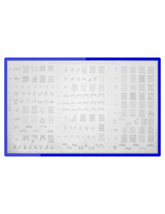 A must-have for all stamping fans! The KONAD demo stamping templates combines on plate 1 all designs from templates M1-M36 and, on plate 2, all motifs from templates M37-M72. You have your favorite pictures ready at hand!  #nded #konad #demo #stamping www.nded.com