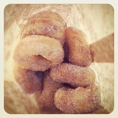 freshly fried mini donuts