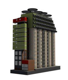 mill junction silo stacked container apartments overlook johannesburg - designboom | architecture & design magazine