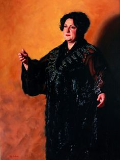 Portrait of Liane Keegan by Vicki Sullivan #oil on Belgian Linen #portrait commission #portrait Artists Australia #portrait from photo #Sorrento #original oil painting #Australian artist #heirloom portrait#Opera#music#