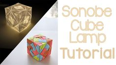 Origami Sonobe Cube Lamp Tutorial - You can make simple 6 unit cubes to more complex 24 unit cubes. Choose paper which is around 9 cm x 9 in x in for your first Sonobe cube Origami Modular, Origami Cube, Origami Ball, Origami Paper Art, Origami Boxes, Dollar Origami, Origami Instructions, Origami Tutorial, Foam Crafts