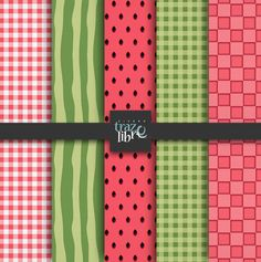 Digital textures: WATERMELON PATTERNS  digital paper por TrazoLibre