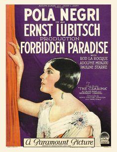 La Frivolidad de una Dama (Forbidden Paradise), de Ernst Lubitsch, 1924