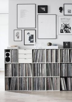 Awesome record shelves by Finnish designer... I could fill it with books!