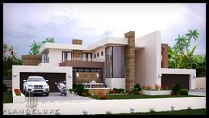 Modern 4 bedroom house plan in South Africa. Explore four bedroom house floor plans, four bedroom house plans pdf and 4 bed 3 bath modern house plans 4 Bedroom House Designs, 4 Bedroom House Plans, Bungalow House Plans, Craftsman House Plans, Modern House Plans, Cool House Designs, Modern Houses, House Floor Design, Home Design Floor Plans