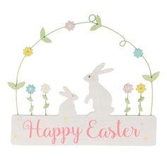 https://www.sassandbelle.co.uk/Spring Bunny Happy Easter Hanging Plaque