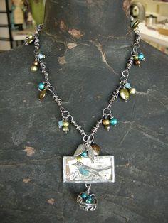 Art Nest Bird Necklace
