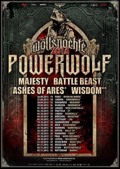 After playing some festivals this summer, Powerwolf will hit the road again at the end of September! Don't miss it!