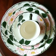 Villeroy & Boch 6 Piece Place Setting Serving for 1 Wild Rose Fine China - Dinner Plate Salad Plate Cup Saucer and Soup Bowl and Saucer