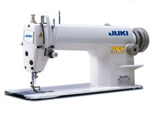 This Juki Series DDL-8100e is a 1 needle, lockstitch machine.