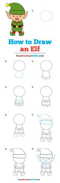 How to Draw an Elf - Really Easy Drawing Tutorial