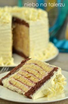 niebo na talerzu: Tort poprzecznie zakręcony