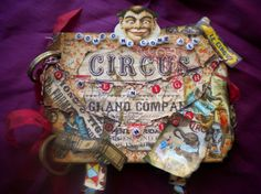 Vintage Circus Altered Art Book