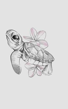 Turtle eeek so excited to tattoo this today # Tattoo Design Drawings, Art Drawings Sketches Simple, Pencil Art Drawings, Tattoo Sketches, Animal Drawings, Cute Turtle Drawings, Turtle Sketch, Turtle Tattoo Designs, Cute Turtle Tattoo