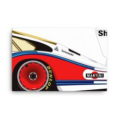 Martini Porsche 935 - Canvas 24x36 Más