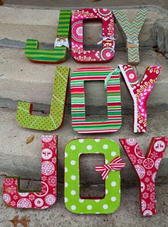 fabric covered cardboard letters