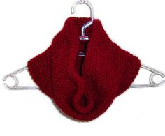 Burgundy Hand Knitted Cowl by naryaboutique on Etsy, $32.00