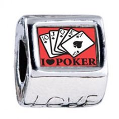 I Love Poker Photo Love Charms  Fit pandora,trollbeads,chamilia,biagi,soufeel and any customized bracelet/necklaces. #Jewelry #Fashion #Silver# handcraft #DIY #Accessory