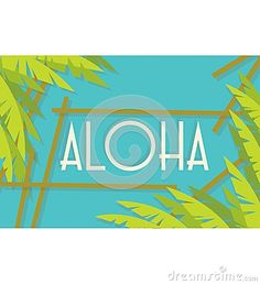 This illustration is about aloha summer with a relaxed and calm feel