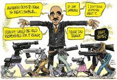 Holder and Walking Guns cartoons