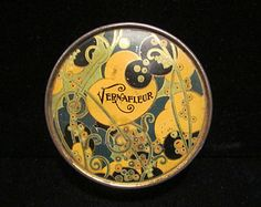 Vintage Tin Powder Tin Vernafleur Tin 1930's Powder Tin Face Powder Tin Enamel Tin Litho Tin Art Nouveau Tin Antique Tin
