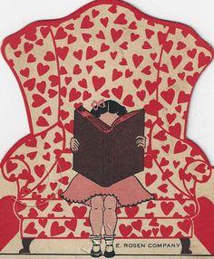 Happy Valentine's ....girl reading.