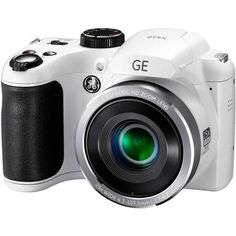 GE X450 Power PRO Digital Camera with 16 Megapixels, 25x Optical Zoom, 42mm Wide-Angle Lens, White