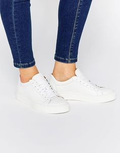 Selected | Selected Femme Donna White Leather Trainers at ASOS