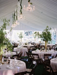 #Tented Wedding Reception   Love those #Chandeliers   See the wedding on SMP - http://www.StyleMePretty.com/2014/01/22/romantic-backyard-wedding-in-salt-lake-city/ Photography: Leo Patrone