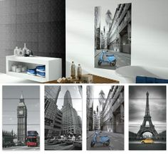 #London, #Paris, #NYC... With this #wall #decors, you choose your destination. #ceramics #tiles #decoration #interiordesign