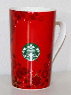 Starbucks 2013 Christmas 16 oz Coffee Mug Large Red White Gold Holiday 473ml #StarbucksCoffeeMug