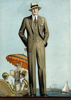 1928 . Seaside resort elegance