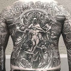 full back tattoo religious