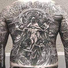 full back tattoo religious