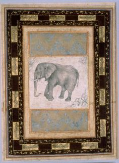 Persian Elephant, Safavid, second half of the 16th century. Museum of Fine Arts, Boston.