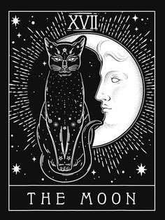 Tarot Card Tattoo, Tarot Card Art, Arte Punk, Room Posters, Poster Prints, Art Prints, Moon Art, Aesthetic Art, Wall Collage