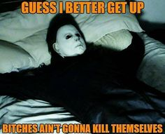 fall down. Funny As Hell, Wtf Funny, Funny Cute, Hilarious, Michael Myers, Fall Humor, Halloween Quotes, Halloween Humor, Humor
